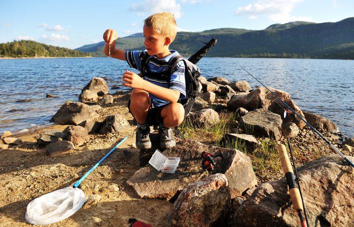 Barn fisker